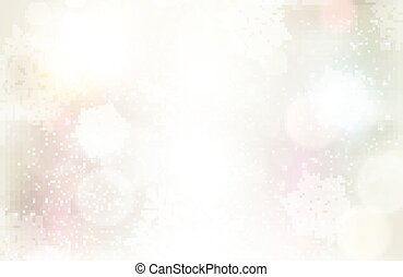 Festive silvery background with light effects and snowflakes