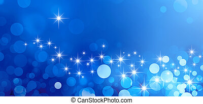 Shiny blue background in starlight and sparkles
