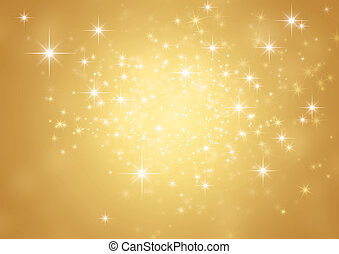 Festive sparkling lights - Shiny gold background in ...