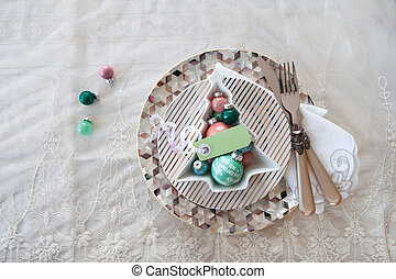 Festive table setting for the holidays