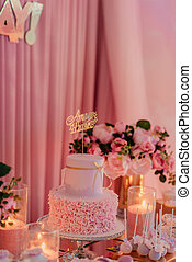 festive table with sweets