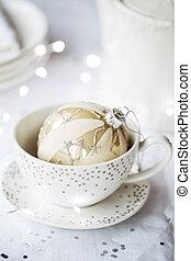 Festive teacup