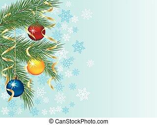 Festive winter background