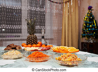 festively laid table