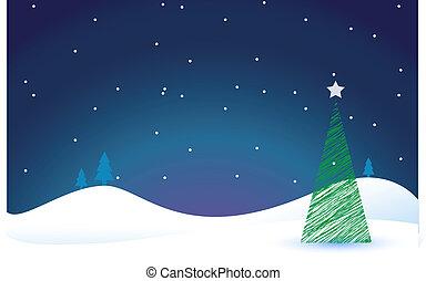 festivo, albero natale
