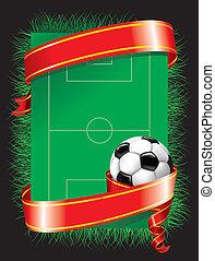 festivo, calcio, fondo, (vector)