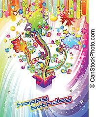 festivo, compleanno, fondo, felice