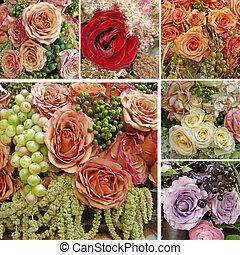 festivo, composición, floral