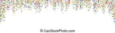festivo, esotico, gioioso, stars., celebrazione, confetti.