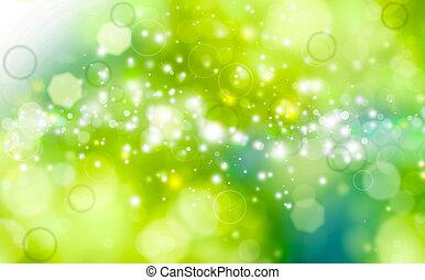 festivo, fundo, verde