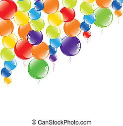 festivo, palloni coloriti