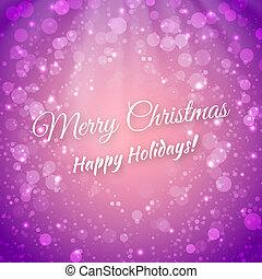 festivo, saludo, confuso, fondo., vector, alegre, navidad., tarjeta