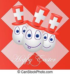 festivo, scheda, pasqua felice, per, svizzera 1