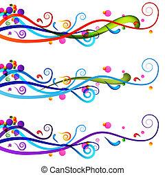 festlig, firande, baner, sätta