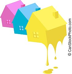 festmény, ügy, épület