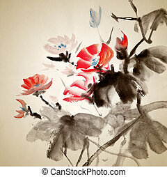 festmény, kínai