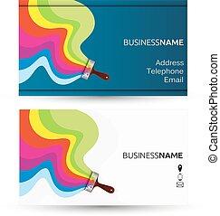 festmény, névjegykártya
