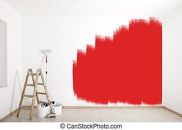 festmény, segédszervek, piros közfal