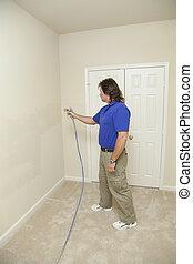 festmény, szobafestő, gally