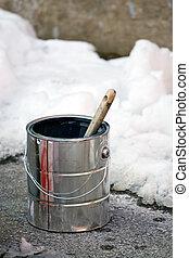 festmény, tél időmérés