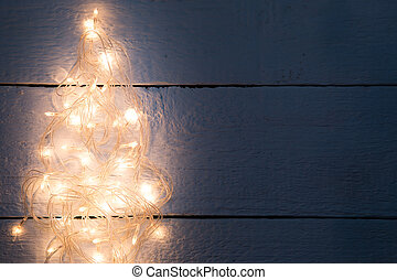 Festoon in form of tree