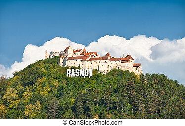festung, rasnov, ruinen, transylvania, romania.