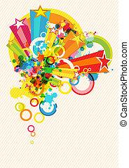 fesztivál, dekoráció, háttér