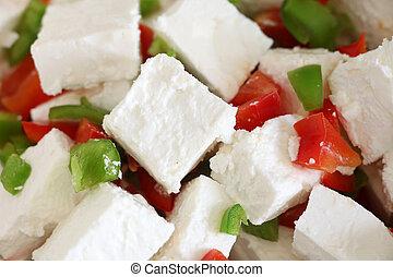 Feta and capsicum salad