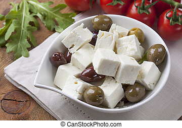 Feta cheese cubes