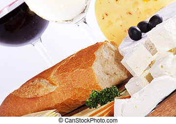 feta cheese with baguette