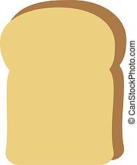 fetta di pane, icona
