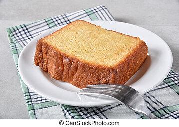 fetta, di, torta libbra
