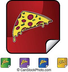 fetta, pizza
