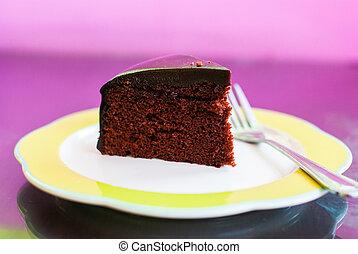 fetta torta, cioccolato