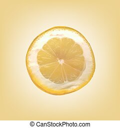 fetta, vettore, limone, illustration.