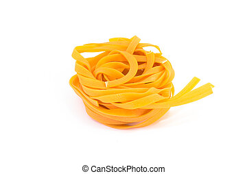 Fettuccine isolated on white background