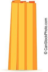 Fettuccine pasta icon, cartoon style - Fettuccine pasta...