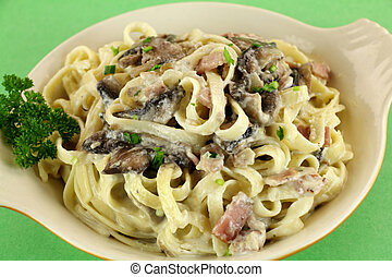Fettucini Carbonara - Bowl of delicious freshly made ...