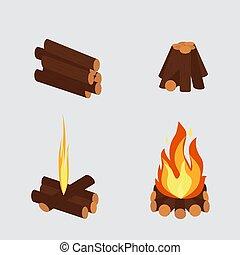 feu, brûlé