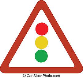 feu circulation, triangle, signe