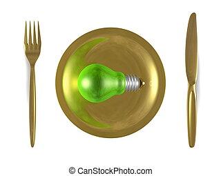 fourchette dor plaque lumi re sommet knife blanc ampoule vue fourchette dor plaque. Black Bedroom Furniture Sets. Home Design Ideas