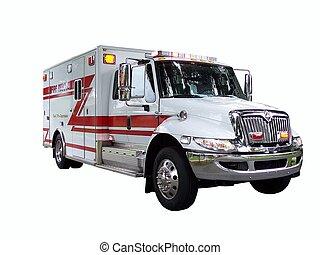 feuer, 1, lastwagen, rettung