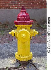 feuer, altes , gefärbt, hydrant
