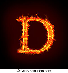 feuer, d, alphabete