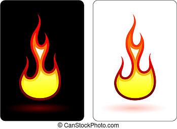 feuer, flamme, design, elemets