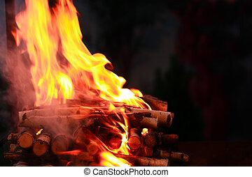 feuer, flamme, hintergrund