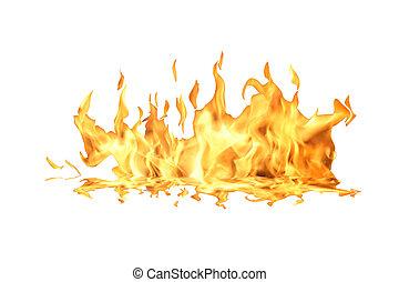 feuer, flamme, weiß