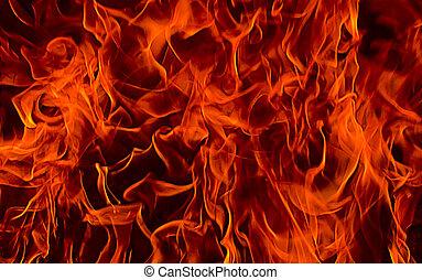 feuer, hölle, rotes , feuerflammen
