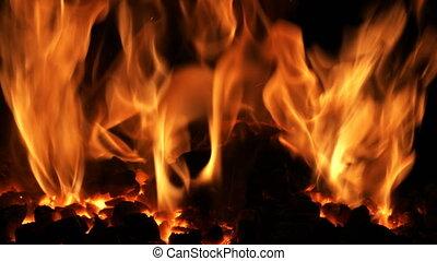 feuer, hölle, vulkanisch, bewegung, langsam