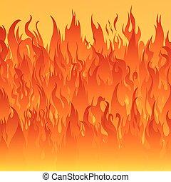 feuer, hintergrund., feuerflammen